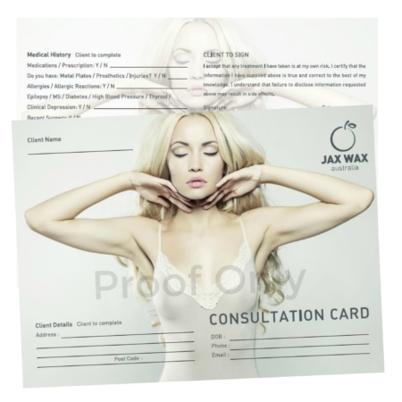 waxing client consultation cards