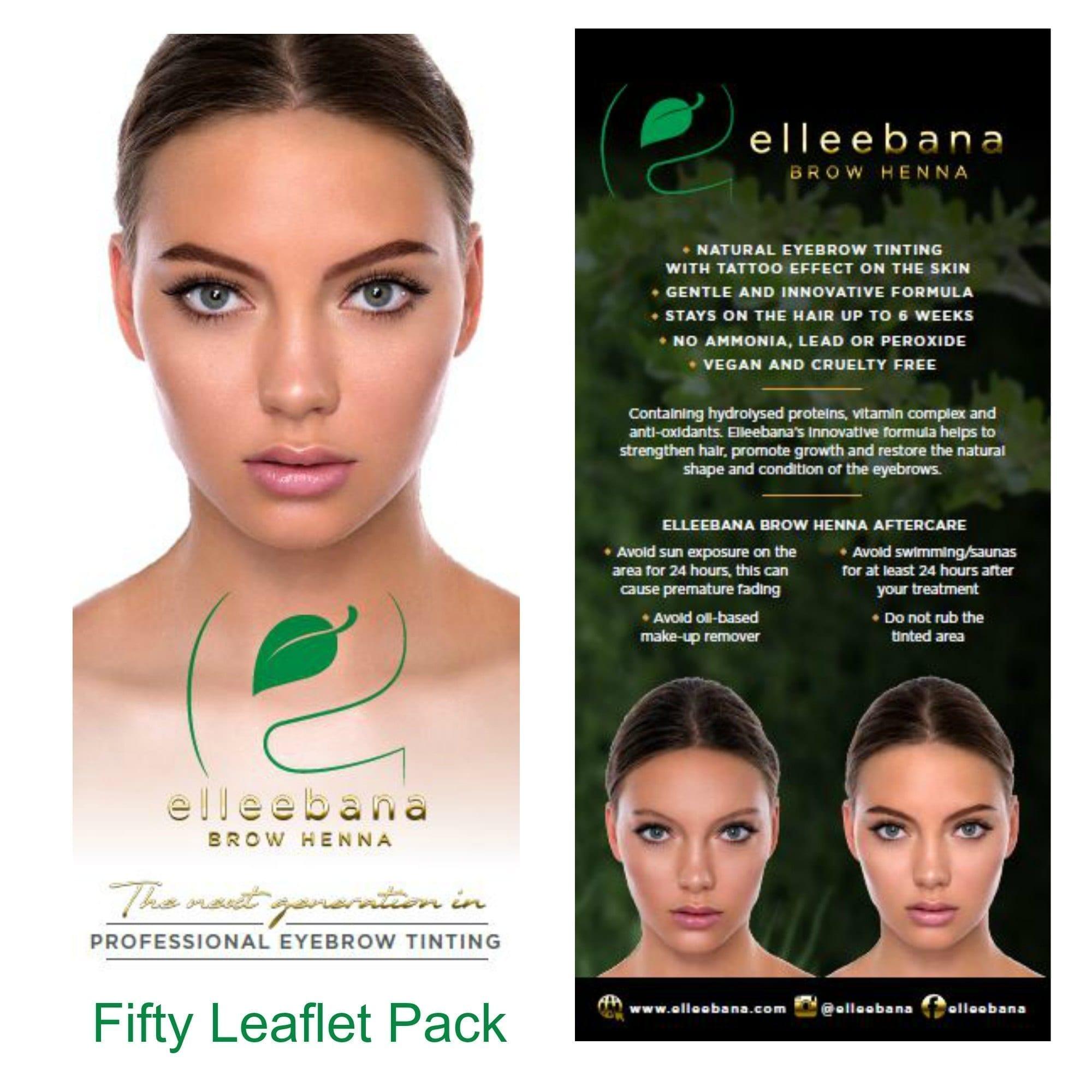 Elleebana Brow Henna Client Information Leaflets Packs Of 50