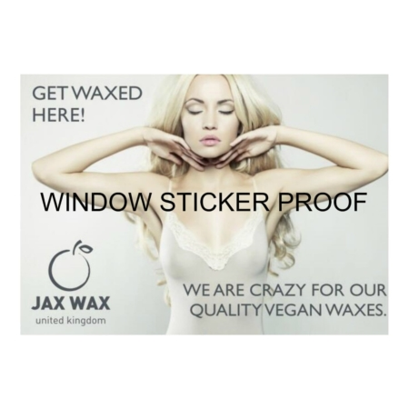Waxing Window Sticker