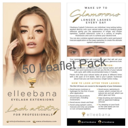 Eyelash Extension Aftercare Leaflet