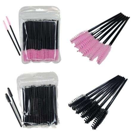 Pink mascara wands